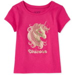 THE CHILDREN'S PLACE/チルドレンズプレイス Mommy And Me Foil Unicorn Matching グラフィックTシャツ