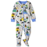 THE CHILDREN'S PLACE/チルドレンズプレイス Dino Construction Snug Fit Cotton One Piece パジャマ
