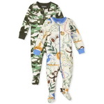 THE CHILDREN'S PLACE/チルドレンズプレイス Animal Camo Snug Fit Cotton One Piece パジャマ 2パック