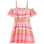 THE CHILDREN'S PLACE/チルドレンズプレイス Chevron Smocked Off Shoulder ドレス