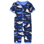THE CHILDREN'S PLACE/チルドレンズプレイス Shark Snug Fit Cotton One Piece パジャマ