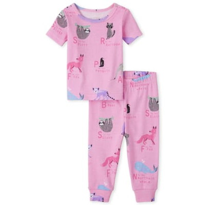 THE CHILDREN'S PLACE/チルドレンズプレイス Animal ABC Snug Fit Cotton パジャマ