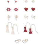 THE CHILDREN'S PLACE/チルドレンズプレイス Girls Tassel Heart Earrings 9-パック