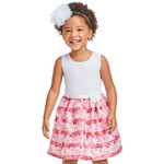 THE CHILDREN'S PLACE/チルドレンズプレイス Toddler Girls Lace Floral Matching Knit To Woven ドレス
