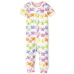 THE CHILDREN'S PLACE/チルドレンズプレイス Rainbow Butterfly Snug Fit Cotton One Piece パジャマ