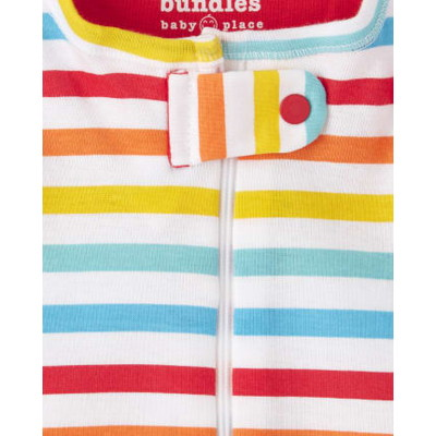 THE CHILDREN'S PLACE/チルドレンズプレイス ABC Striped Snug Fit Cotton One Piece パジャマ 2パック