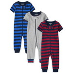 THE CHILDREN'S PLACE/チルドレンズプレイス Striped Snug Fit Cotton One Piece パジャマ 3パック