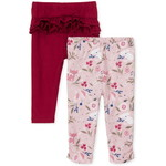 THE CHILDREN'S PLACE/チルドレンズプレイス Floral Fox Pants 2-パック