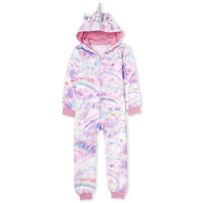 THE CHILDREN'S PLACE/チルドレンズプレイス Mommy And Me Unicorn Cloud Fleece Matching One Piece パジャマ
