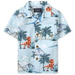 THE CHILDREN'S PLACE/チルドレンズプレイス Tropical Dino Poplin Button Downシャツ