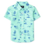 THE CHILDREN'S PLACE/チルドレンズプレイス Palm Tree Poplin Button Downシャツ