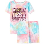 THE CHILDREN'S PLACE/チルドレンズプレイス Foil Best Daughter Tie Dye Snug Fit コットン パジャマ