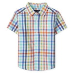 THE CHILDREN'S PLACE/チルドレンズプレイス Plaid Poplin Button Downシャツ