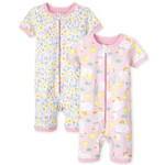 THE CHILDREN'S PLACE/チルドレンズプレイス Floral Duck Snug Fit Cotton One Piece パジャマ 2パック
