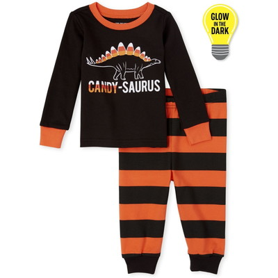 THE CHILDREN'S PLACE/チルドレンズプレイス Matching Family Halloween Glow Candy-Saurus Snug Fit Cotton パジャマ