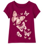 THE CHILDREN'S PLACE/チルドレンズプレイス Glitter Butterfly グラフィックTシャツ