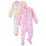 THE CHILDREN'S PLACE/チルドレンズプレイス ABC Animal Snug Fit Cotton One Piece パジャマ 2パック