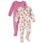 THE CHILDREN'S PLACE/チルドレンズプレイス Monkey Snug Fit Cotton One Piece パジャマ 2パック