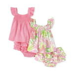 THE CHILDREN'S PLACE/チルドレンズプレイス Tropical Ruffle 4Piece Playwear Set