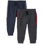 THE CHILDREN'S PLACE/チルドレンズプレイス Active Fleece Side Stripe Jogger パンツ 2-Pack
