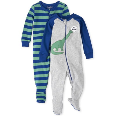 THE CHILDREN'S PLACE/チルドレンズプレイス Dino Snug Fit Cotton One Piece パジャマ 2-パック