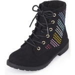 THE CHILDREN'S PLACE/チルドレンズプレイス Rainbow Jeweled Lace Up ブーツ