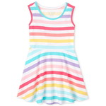 THE CHILDREN'S PLACE/チルドレンズプレイス Rainbow Striped Tank ドレス