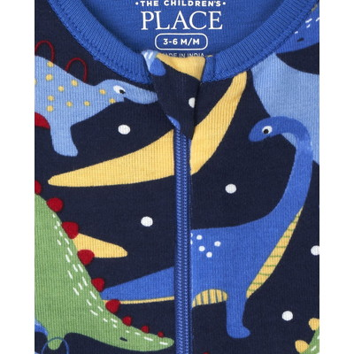 THE CHILDREN'S PLACE/チルドレンズプレイス Dino Snug Fit Cotton One Piece パジャマ