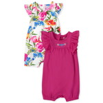 THE CHILDREN'S PLACE/チルドレンズプレイス Floral Ruffle Romper 2パック