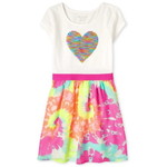 THE CHILDREN'S PLACE/チルドレンズプレイス Flip Sequin Heart Knit To Woven ドレス