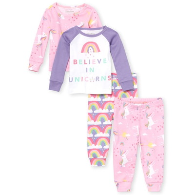 THE CHILDREN'S PLACE/チルドレンズプレイス Unicorn Rainbow Snug Fit Cotton 4Piece パジャマ