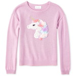 THE CHILDREN'S PLACE/チルドレンズプレイス Faux Fur Unicorn Sweater