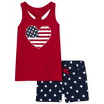 THE CHILDREN'S PLACE/チルドレンズプレイス Americana Heart And Stars 2-Piece セット