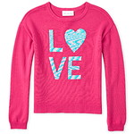 THE CHILDREN'S PLACE/チルドレンズプレイス Flip Sequin Love Sweater