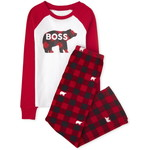 THE CHILDREN'S PLACE/チルドレンズプレイス Matching Family Bear Buffalo Plaid Snug Fit Cotton And Fleece パジャマ