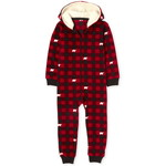 THE CHILDREN'S PLACE/チルドレンズプレイス Matching Family Bear Buffalo Plaid Fleece One Piece パジャマ