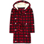 THE CHILDREN'S PLACE/チルドレンズプレイス Matching Family Bear Buffalo Plaidフリース ローブ