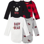 THE CHILDREN'S PLACE/チルドレンズプレイス Buffalo Plaid Bodysuit 4-Pack