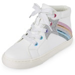 THE CHILDREN'S PLACE/チルドレンズプレイス Glitter Shooting Star Hi Top スニーカー