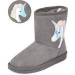 THE CHILDREN'S PLACE/チルドレンズプレイス Holographic Unicorn Faux Suede ブーツ