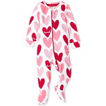 THE CHILDREN'S PLACE/チルドレンズプレイス Hearts Snug Fit Cotton One Piece パジャマ