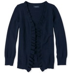 THE CHILDREN'S PLACE/チルドレンズプレイス Uniform Ruffle Open Front Cardigan