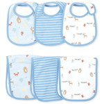 THE CHILDREN'S PLACE/チルドレンズプレイス Happy Bear Bib And Burp Cloth 6-Piece セット