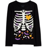 THE CHILDREN'S PLACE/チルドレンズプレイス Mommy And Me Halloween Glow Candy Skeleton Matching グラフィック ティ