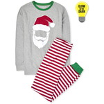 THE CHILDREN'S PLACE/チルドレンズプレイス Adult Matching Family Glow Santa Striped Cotton パジャマ