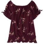 THE CHILDREN'S PLACE/チルドレンズプレイス Floral Smocked Peasant トップ