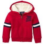 THE CHILDREN'S PLACE/チルドレンズプレイス Sport Sherpa Fleece Zip Up フーディー