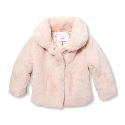 Baby And Toddler Girls Faux Fur Jacket