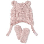 THE CHILDREN'S PLACE/チルドレンズプレイス Cable Knit Chenille ハット And Mittens セット