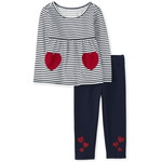 THE CHILDREN'S PLACE/チルドレンズプレイス Heart Striped Outfit セット